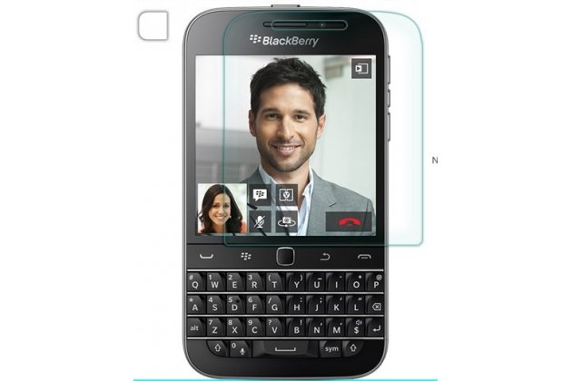 Фирменная оригинальная защитная пленка для телефона BlackBerry Q20 Classic глянцевая