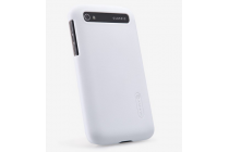 Фирменная задняя панель-крышка-накладка из тончайшего и прочного пластика для BlackBerry Q20 Classic белая
