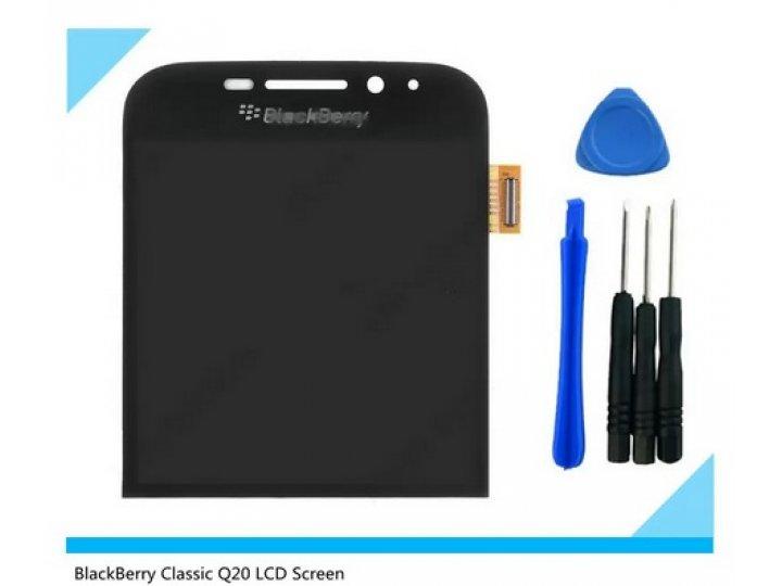 Фирменный LCD-ЖК-сенсорный дисплей-экран-стекло с тачскрином на телефон BlackBerry Q20 Classic черный + гарант..