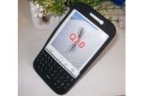 Фирменный оригинальный силиконовый  чехол-пенал для BlackBerry Q20 Classic с 3D клавиатурой и защитой кнопок от пыли и воды черный