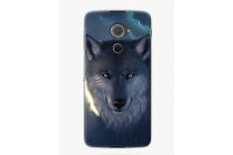 Фирменная необычная из мягкого и тонкого силикона задняя панель-чехол-накладка для Blackberry DTEK60 тематика Волк
