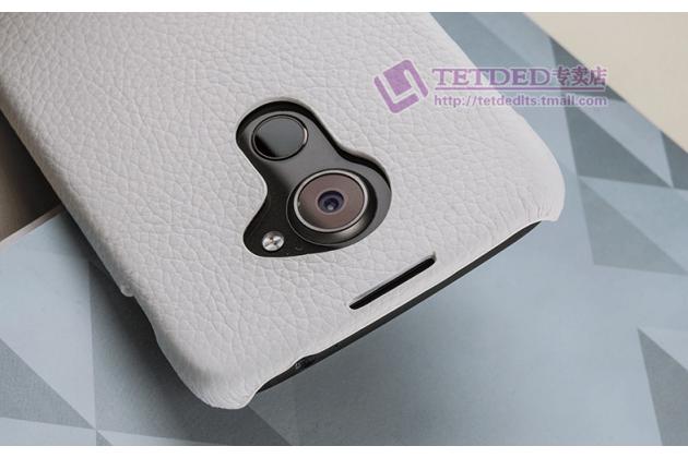 Фирменная премиальная элитная крышка-накладка из тончайшего прочного пластика и качественной импортной кожи  для Blackberry DTEK60  белая