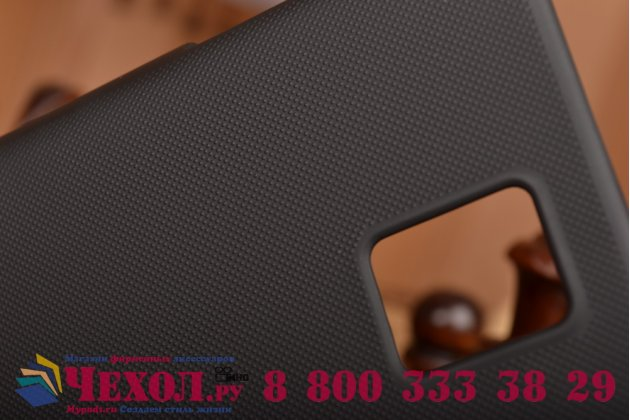 Фирменная задняя панель-крышка-накладка из тончайшего и прочного пластика для Blackberry Passport Q30 черная