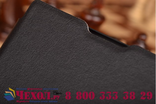 Фирменный умный тонкий чехол Smart-case/Smart-cover c функцией засыпания для Blackberry Passport Q30 черный пластиковый