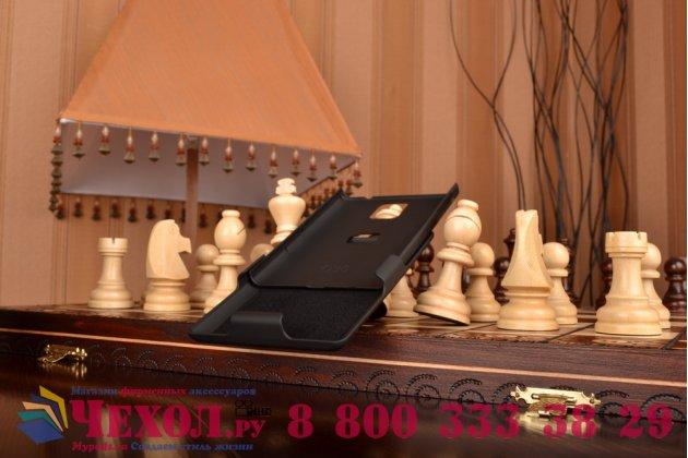 Противоударный усиленный ударопрочный фирменный чехол-бампер-пенал с клипсой на пояс для Blackberry Passport Q30 черный