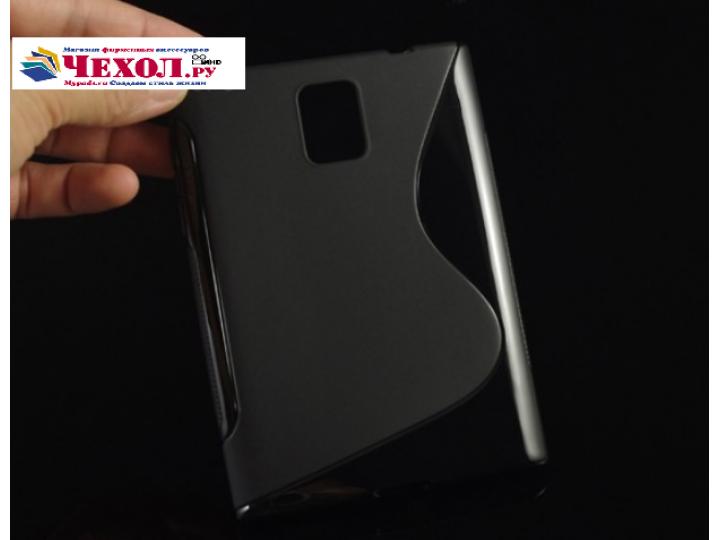 Фирменная ультра-тонкая полимерная из мягкого качественного силикона задняя панель-чехол-накладка для Blackber..