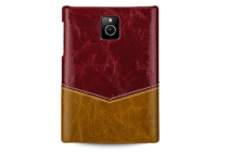 Фирменная роскошная элитная премиальная задняя панель-крышка для Blackberry Passport Q30 из качественной кожи буйвола коричневый
