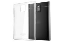 Фирменная задняя панель-крышка-накладка из тончайшего и прочного пластика для Blackberry Passport Q30 прозрачная