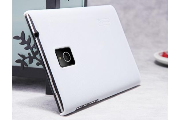 Фирменная задняя панель-крышка-накладка из тончайшего и прочного пластика для Blackberry Passport Q30 белая