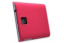 Фирменная задняя панель-крышка-накладка из тончайшего и прочного пластика для Blackberry Passport Q30 красная