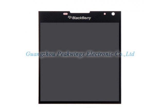 Фирменный LCD-ЖК-сенсорный дисплей-экран-стекло с тачскрином на телефон Blackberry Passport Q30 черный + гарантия