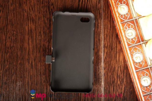Чехол-бампер со встроенной усиленной мощной батарей-аккумулятором большой повышенной расширенной ёмкости 3200mAh для Blackberry Z30 черный + гарантия