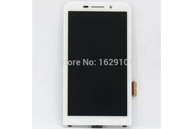 Фирменный LCD-ЖК-сенсорный дисплей-экран-стекло с тачскрином на телефон Blackberry Z30 белый + гарантия