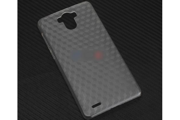Фирменная задняя панель-крышка-накладка из тончайшего и прочного пластика для Blackview R6 серебристая