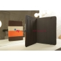 Чехол-обложка для Bliss Pad M9727 коричневый с оранжевой полосой кожаный