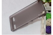 Фирменная ультра-тонкая полимерная из мягкого качественного силикона задняя панель-чехол-накладка для Bluboo X550 черная