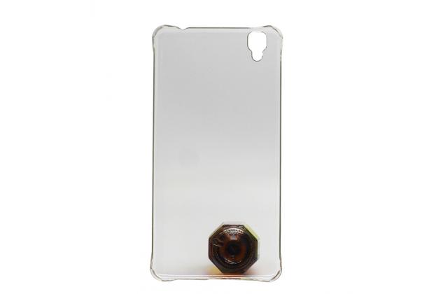 """Фирменная ультра-тонкая пластиковая задняя панель-чехол-накладка для Bluboo Maya 5.5"""" прозрачная"""