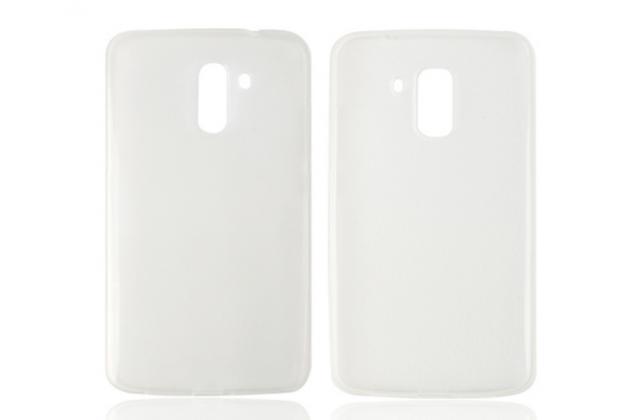 """Фирменная ультра-тонкая силиконовая задняя панель-чехол-накладка для Bluboo Xfire2 5.0"""" белая"""