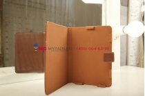 Чехол обложка с подстветкой/лампой для Bookeen Cybook Opus кожаный. Цвет на выбор