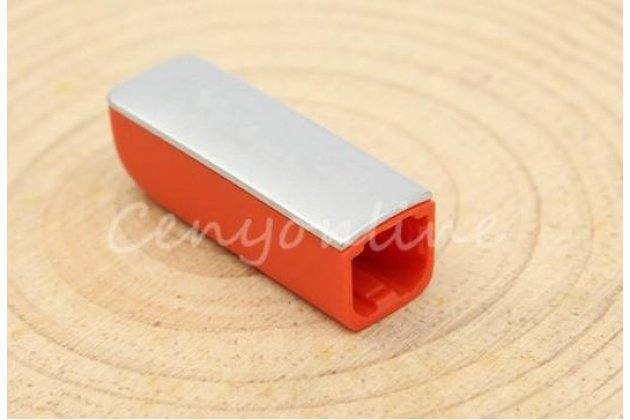 Фирменный защитный чехол-колпачек-пенал для спортивного браслета Jawbone UP24 оранжевый