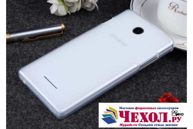 Фирменная ультра-тонкая полимерная из мягкого качественного силикона задняя панель-чехол-накладка для COOLPAD 7105 белая