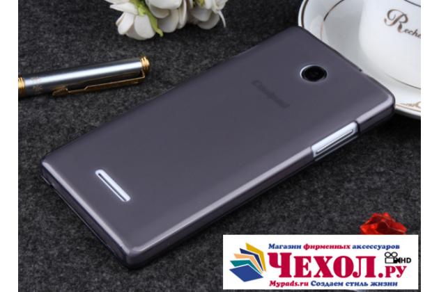 Фирменная ультра-тонкая полимерная из мягкого качественного силикона задняя панель-чехол-накладка для COOLPAD 7105  черная
