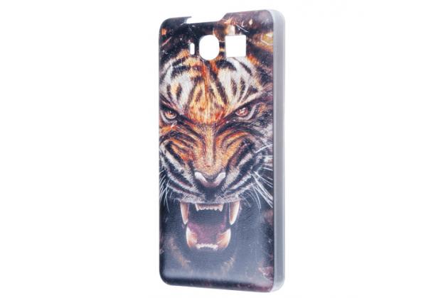 """Фирменная роскошная задняя панель-чехол-накладка с безумно красивым рисунком тигра на CUBOT S200"""""""