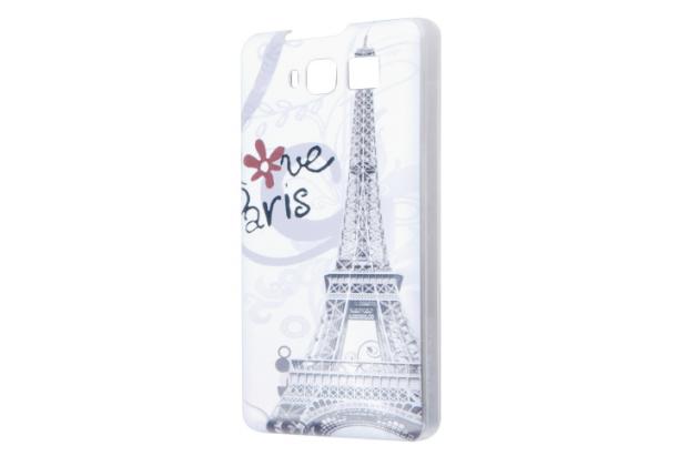 """Фирменная уникальная задняя панель-крышка-накладка из тончайшего пластика для CUBOT S200 """"тематика Париж"""""""