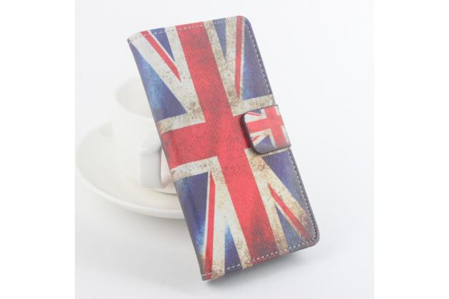"""Фирменный уникальный необычный чехол-книжка для CUBOT S200 """"тематика Британский флаг"""""""