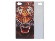 Фирменная роскошная задняя панель-чехол-накладка с безумно красивым рисунком тигра на CUBOT X11
