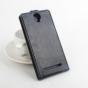 """Фирменный оригинальный вертикальный откидной чехол-флип для  Cubot P9 черный из натуральной кожи """"Prestige"""" Италия"""