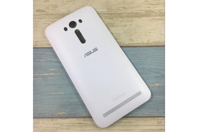 Родная оригинальная задняя крышка-панель которая шла в комплекте для ASUS Zenfone 2 Lazer ZE550KL 5.5 (Z00LD)  белая