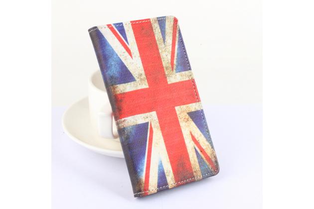 """Фирменный уникальный необычный чехол-книжка для CUBOT S550 """"тематика Британский флаг"""""""