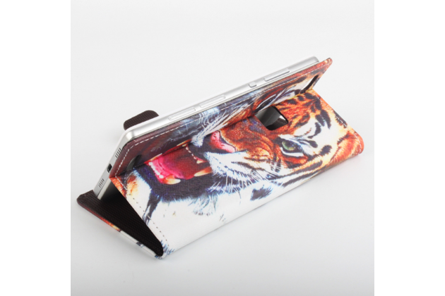 """Фирменный уникальный необычный чехол-подставка с визитницей кармашком на CUBOT S550  """"тематика Тигр"""""""