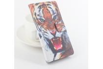 """Фирменный уникальный необычный чехол-подставка с визитницей кармашком на CUBOT X12  """"тематика Тигр"""""""