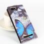 """Фирменный вертикальный откидной чехол-флип для CUBOT X12 """"тематика радужные Бабочки"""""""