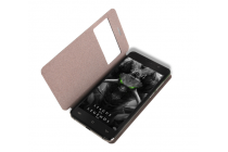 Фирменный оригинальный чехол-книжка для  CUBOT Z100 черный с окошком для входящих вызовов водоотталкивающий
