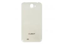 Фирменная задняя панель-крышка-накладка из тончайшего и прочного пластика для Cubot GT99 белая