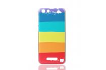 """Фирменная ультра-тонкая полимерная из мягкого качественного силикона задняя панель-чехол-накладка для Cubot Note S  тематика """"все цвета радуги"""""""