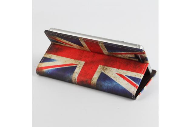 """Фирменный уникальный необычный чехол-книжка для Cubot X15 """"тематика Британский флаг"""""""