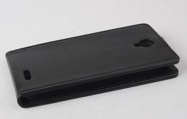 """Фирменный вертикальный откидной чехол-флип для CUBOT S222"""" черный"""