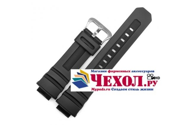 Фирменный необычный сменный силиконовый ремешок для умных смарт-часов Casio AW-591/AW-590/G-7700/G-7710 черный