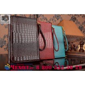 Фирменный роскошный эксклюзивный чехол-клатч/портмоне/сумочка/кошелек из лаковой кожи крокодила для планшетов Samsung 7.0 Plus P6200/P6210. Только в нашем магазине. Количество ограничено.