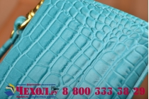Фирменный роскошный эксклюзивный чехол-клатч/портмоне/сумочка/кошелек из лаковой кожи крокодила для телефона Explay A400. Только в нашем магазине. Количество ограничено