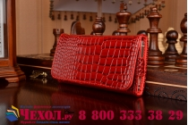 Фирменный роскошный эксклюзивный чехол-клатч/портмоне/сумочка/кошелек из лаковой кожи крокодила для телефона MTC 982T. Только в нашем магазине. Количество ограничено