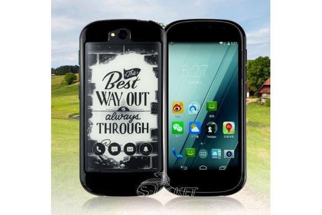 Фирменный оригинальный ультра-тонкий чехол-бампер из мягкого силикона для Yota YotaPhone 2 черный