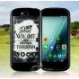 Фирменный оригинальный ультра-тонкий чехол-бампер из мягкого силикона для Yota YotaPhone 2 черный ..