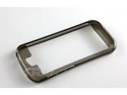 Фирменный оригинальный ультра-тонкий чехол-бампер из мягкого силикона для Yota YotaPhone 2 серый..