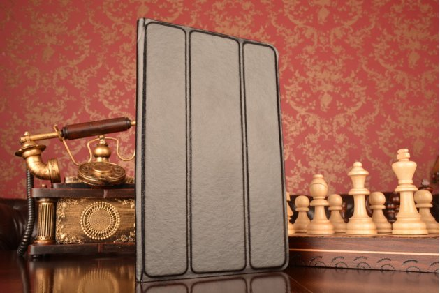 Чехол с вырезом под камеру для планшета Prestigio MultiPad Visconte Quad 3G PMP881TD/3GK с дизайном Smart Cover ультратонкий и лёгкий. цвет в ассортименте