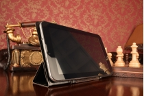 Чехол с вырезом под камеру для планшета Overmax Qualcore 7030 с дизайном Smart Cover ультратонкий и лёгкий. цвет в ассортименте